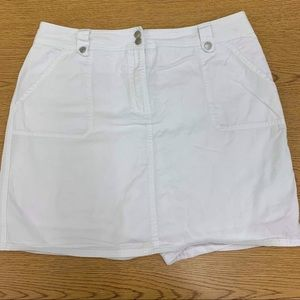 First Issue | White Cotton Skort | 16 | Claiborne